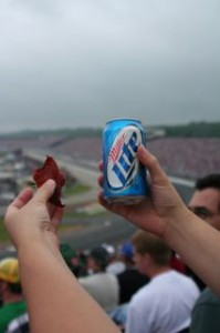 Miller Lite, beef jerkie and Nascar.... Does it get more WT than this??