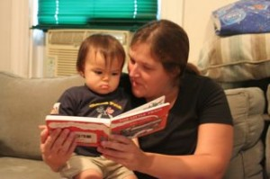 Katie and Doug gave him his new favorite book!! I have a feeling we will have this memorized in a few days!