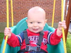 Even Benjamin had a great time on the swing!