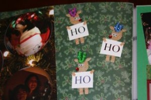 There were so many great regular Christmast cards too this year that I took some of them and cut them up for details on the pages!