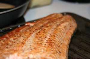 The very yummy salmon!