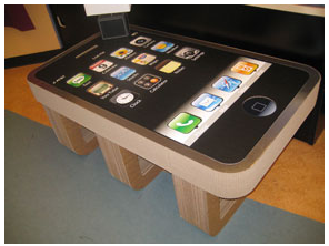 iPhone coffee table!