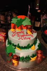 """Noby's FIRST """"Lisa Cake!""""  It looked perfect and tasted just as good! YUMMY!"""