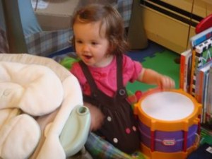 Ari also had a great time playing!  We didn't hear one peep from her all day!