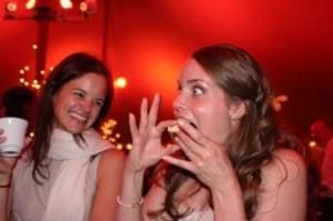 Sarah enjoying her cupcake!