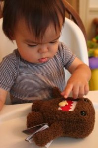 Noby feeding Domo some of his fishies.