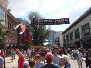 Yawkey Way before the game.