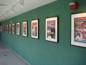 The walls were lined with all the Sports Illustrated covers that highlighted the Red Sox.