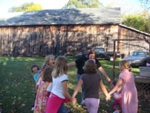 HAHA Here I am playing ring-around-the-rosie!!