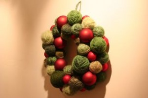 My Starbucks inspired Christmas wreath!!   I just love it and even think it looks better than the Starbucks ones!