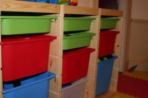New storeage for the playroom!