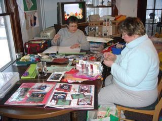 Saturday Mom and I got some scrapbooking done with Aunt Judee!