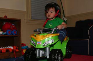 A Powerwheel 4-wheeler!!